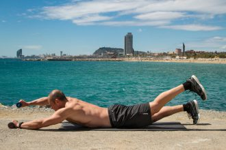 Entrenar en la playa